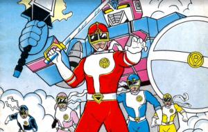 Goggle V Flashman quadrinhos